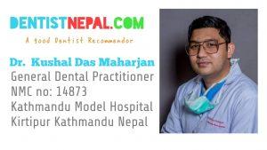Dr Kushal , Dental Tre Nepal Member dentist.