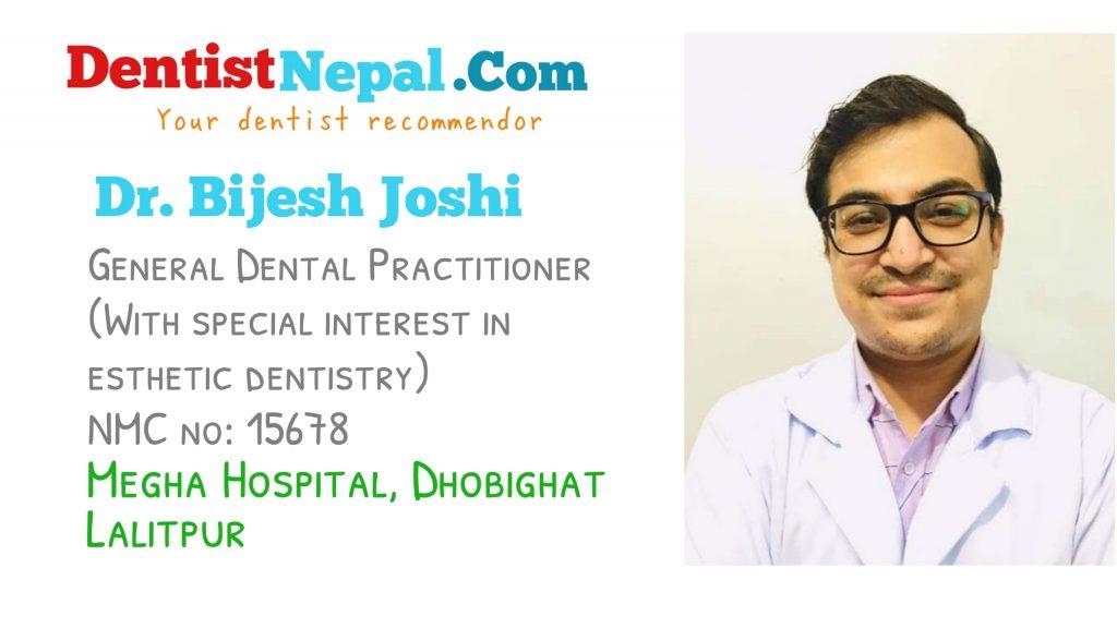 Dental Tree Nepal member Dr Bijesh Joshi