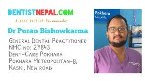 Dental Tree Nepal Member Dentist in Pokhara Dr Puran Bishwokarma