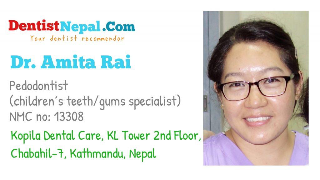 Dental Tree Nepal member Dr Amita Rai