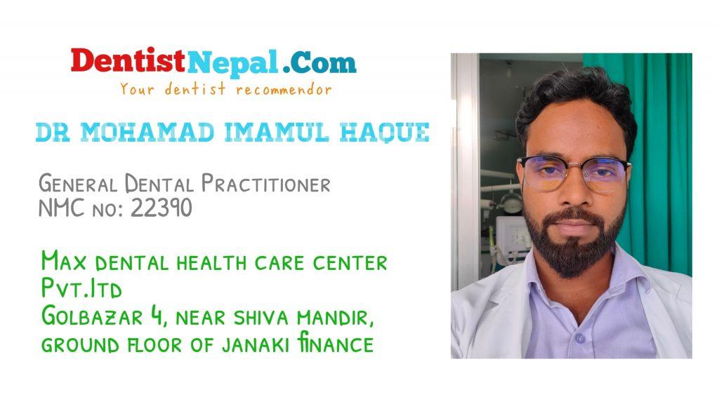 Dr Mohammad Immamul Haque