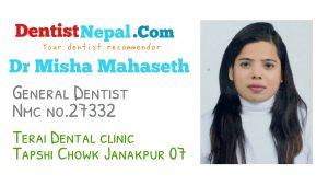 Dr Misha Mahaseth